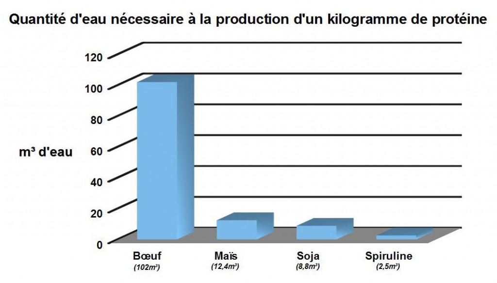 Quantite eau Proteine SPIFORM spiruline