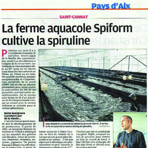 Article de journal de la provence du 23 10 15 la ferme aquacole spiform - Le journal de provence ...